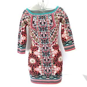 Flying Tomato Geometric Aztec Sweater Dress Size S